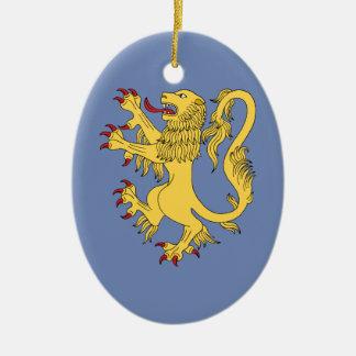 Ornamento De Cerâmica Leão desenfreado