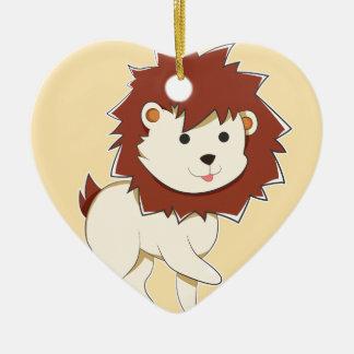 Ornamento De Cerâmica Leão feliz do bebê dos desenhos animados