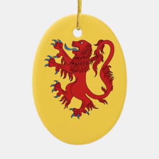 Ornamento De Cerâmica Leão Gules desenfreado
