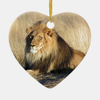 Ornamento De Cerâmica Leão que lounging em Nambia