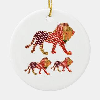 Ornamento De Cerâmica LEÃO - REI majestoso dos animais