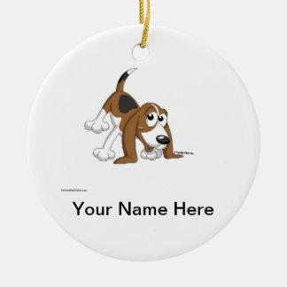 Ornamento De Cerâmica Lebreiro, Coonhound, Basset Hound