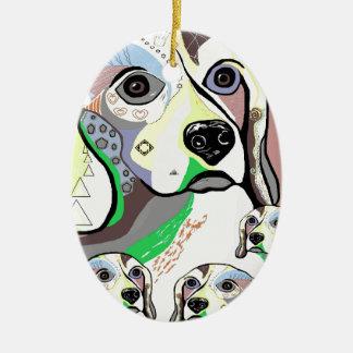 Ornamento De Cerâmica Lebreiro e paleta de cores macia dos bebês