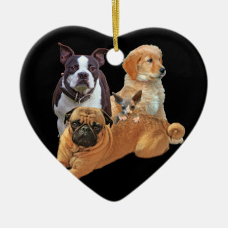 Ornamento De Cerâmica Legião do cão com gato