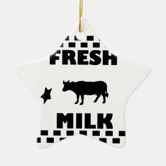 Ornamento De Cerâmica Leite de vaca fresco da leiteria