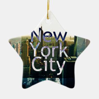 Ornamento De Cerâmica Lembrança da Nova Iorque