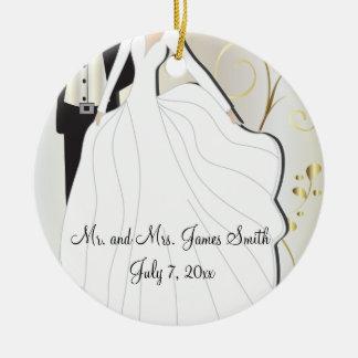 Ornamento De Cerâmica Lembrança do casamento dos noivos