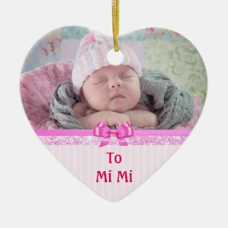 Ornamento De Cerâmica Lembranças decorativas do coração cor-de-rosa para