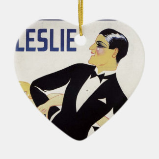 Ornamento De Cerâmica Leslie!