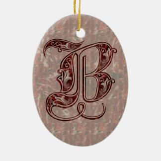 Ornamento De Cerâmica Letra B
