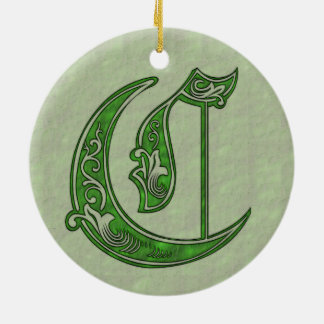 Ornamento De Cerâmica Letra C