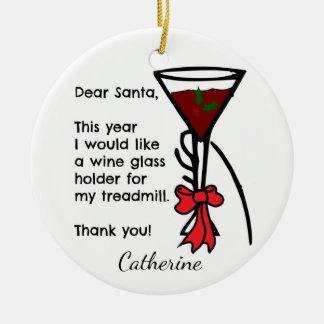 Ornamento De Cerâmica Letra engraçada ao suporte do vidro de vinho da