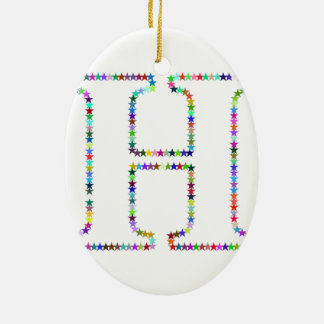 Ornamento De Cerâmica Letra H da estrela do arco-íris