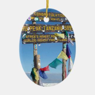 Ornamento De Cerâmica Letreiro na cimeira de Kilimanjaro kenya