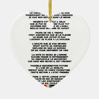 Ornamento De Cerâmica Levando o Luto da minha Infância - Poema