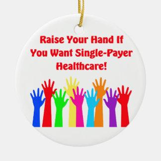 Ornamento De Cerâmica Levante sua mão para cuidados médicos do