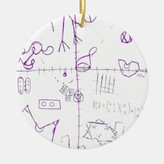 Ornamento De Cerâmica Lexographical Symbolmantic Grimoire pela