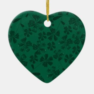 Ornamento De Cerâmica lflowers verdes