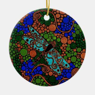 Ornamento De Cerâmica Libélula