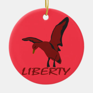 Ornamento De Cerâmica Liberdade do pato