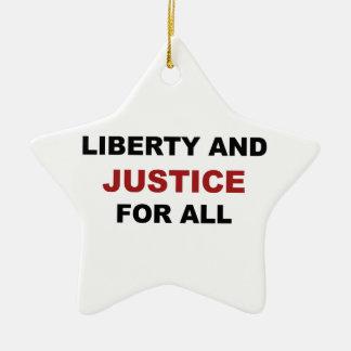 Ornamento De Cerâmica Liberdade e JUSTIÇA para tudo