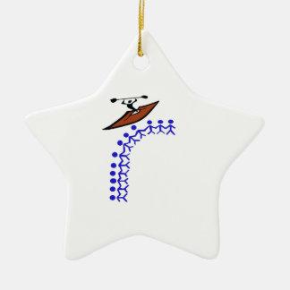 Ornamento De Cerâmica Ligação do caiaque