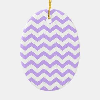 Ornamento De Cerâmica Lilac Chevron