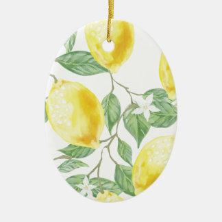 Ornamento De Cerâmica Limão da aguarela
