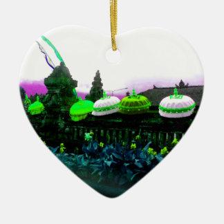 Ornamento De Cerâmica Limão do respingo da cor de Bali do guarda-chuva
