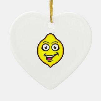 Ornamento De Cerâmica Limão doce