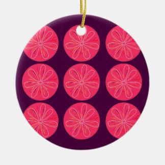 Ornamento De Cerâmica Limões com fatias do vinho