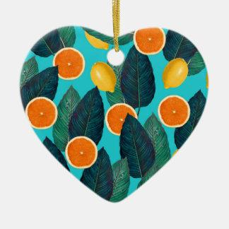 Ornamento De Cerâmica limões e cerceta das laranjas