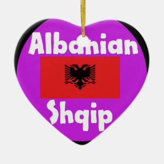 Ornamento De Cerâmica Língua de Albânia e design da bandeira