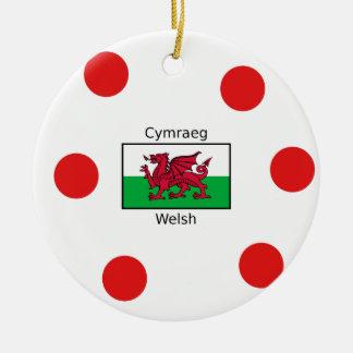 Ornamento De Cerâmica Língua de Galês e design da bandeira de Wales
