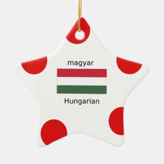 Ornamento De Cerâmica Língua de Hungria e design da bandeira