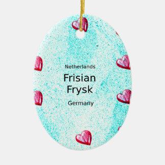 Ornamento De Cerâmica Língua do Frisian (Alemanha e Países Baixos)
