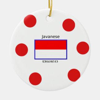 Ornamento De Cerâmica Língua do Javanese e design da bandeira do