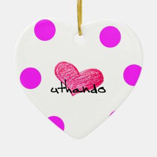 Ornamento De Cerâmica Língua do tribo Zulu do design do amor