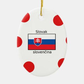 Ornamento De Cerâmica Língua e design eslovacos da bandeira de Slovakia
