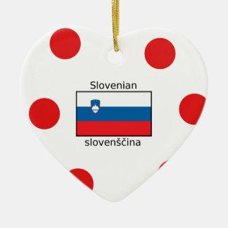 Ornamento De Cerâmica Língua e design eslovenos da bandeira de Slovenia