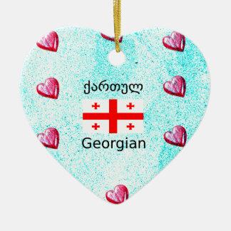 Ornamento De Cerâmica Língua e design Georgian da bandeira