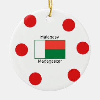 Ornamento De Cerâmica Língua e design malgaxes da bandeira de Madagascar