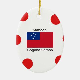 Ornamento De Cerâmica Língua e design samoanos da bandeira de Samoa