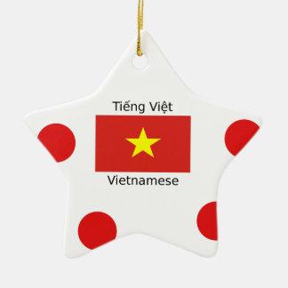 Ornamento De Cerâmica Língua e design vietnamianos da bandeira de