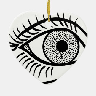 Ornamento De Cerâmica Linha arte do olho