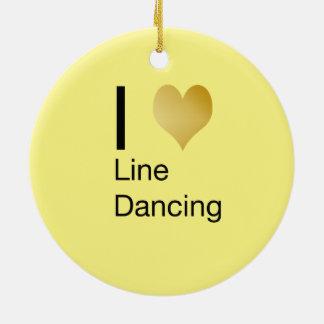 Ornamento De Cerâmica Linha de coração Playfully elegante dança de I