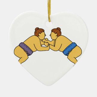Ornamento De Cerâmica Linha dos lutadores do Sumo de Rikishi mono