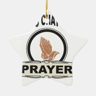 Ornamento De Cerâmica linha oração do bate-papo dos deuses