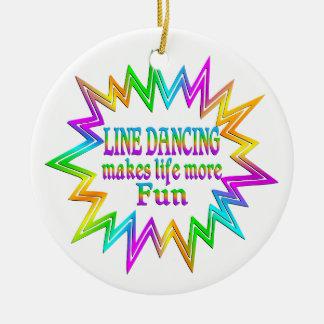 Ornamento De Cerâmica Linha que dança mais divertimento