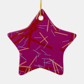 Ornamento De Cerâmica Linha roxa colorida moderna teste padrão